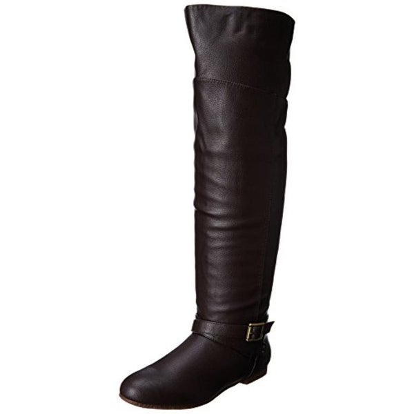 Dolce by Mojo Moxy Womens Deacon Knee-High Boots Faux Leather Slouchy - 7.5 medium (b,m)