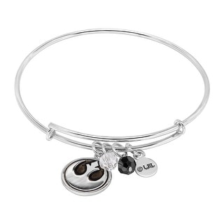 Star Wars Rebel Alliance Charms Bangle Bracelet in Sterling Silver - White