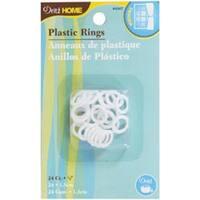 """White - Plastic Rings 1/2"""" 24/Pkg"""