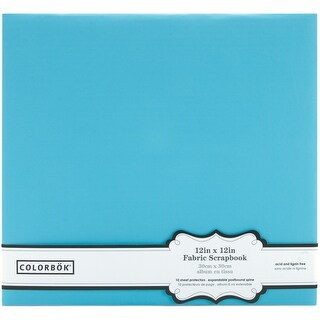 "Colorbok Post Bound Fabric Album 12""X12""-Light Teal - Light Teal"