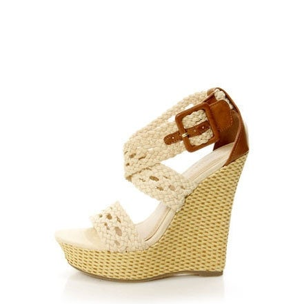 Bamboo Women Pompey-39 High Wedge Sandals