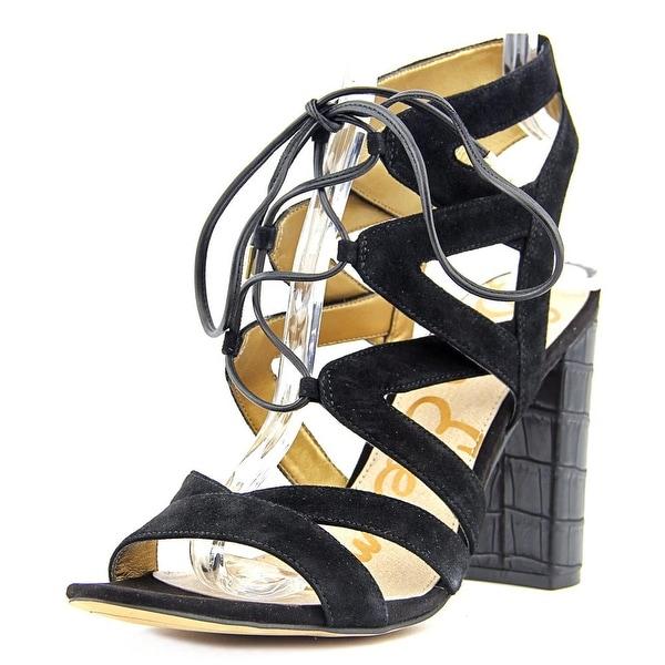 6864f3a9a2e3 Shop Sam Edelman Yardley Women Open Toe Suede Black Sandals - Free ...