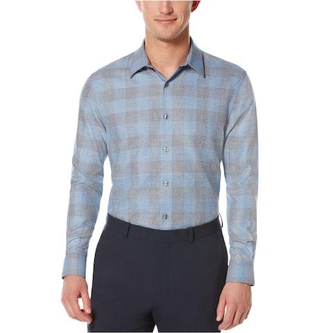 Perry Ellis Mens Plaid Button Up Shirt