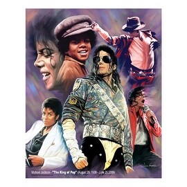 ''Michael Jackson - The King of Pop'' by Wishum Gregory Music Art Print (11 x 8.5 in.)