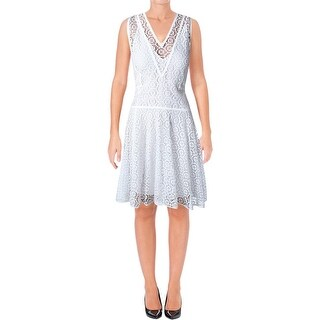Rebecca Taylor Womens Casual Dress Lace Flared - 4