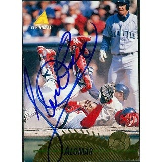 Signed Alomar Sandy Jr Cleveland Indians 1995 Pinnacle Baseball Card autographed
