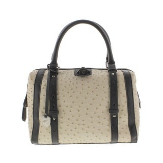 London Fog Womens Doctors Handbag Textured Faux Leather - Medium