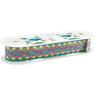 """Cluny Lace 1-3/4""""X10yd-Turquoise Multi"""