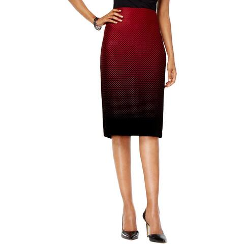 ECI Womens Bandage Skirt Polka Dot Print Ombre - S