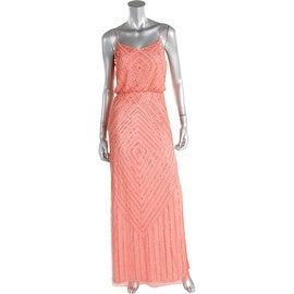 Aidan Mattox Womens Mesh Embellished Semi-Formal Dress - 2