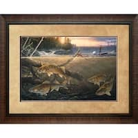 North American Art  28 x 35 in. Walleye In the Wood Framed Art Print