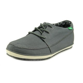 Sanuk Cassius Men Moc Toe Canvas Gray Boat Shoe
