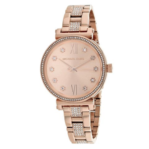 Rose Dial Ladies Watch - One Size