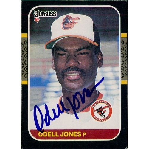 Signed Jones Odell Baltimore Orioles 1987 Donruss Baseball Card Autographed