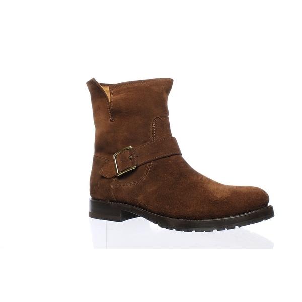 d7480d09925a Shop Frye Womens Natalie Short Engineer Brown Ankle Boots Size 8 ...