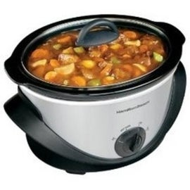 Hamilton 33141 Oval Slow Cooker, 4 Quarts