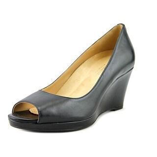 Naturalizer Olivia   Open Toe Leather  Wedge Heel
