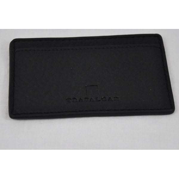 Trafalgar Mens Murray Hill 3120TFA2 Black Pass-Case Card Case Wallet
