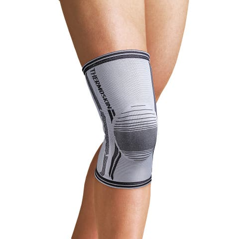 Orthozone Thermoskin(r) Compression Knee Stabilizer-Patella Wrap Support Sleeve - Gray