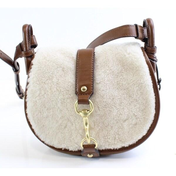 Shop Michael Kors NEW Brown Leather Medium Jamie Saddle Cross Body ... 388d3d1a779ca