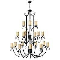 Hinkley Lighting 4309 Casa 18 Light 3 Tier Candle Style Chandelier