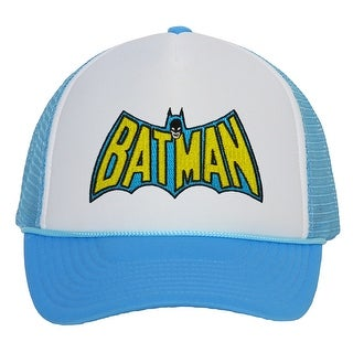 Original Batman Wing Logo Light Blue Trucker Mesh Snapback - Light Blue
