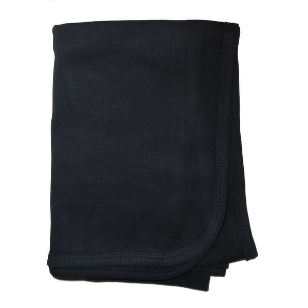 Bambini Black Interlock Receiving Blanket - Size - 30x40 - Unisex