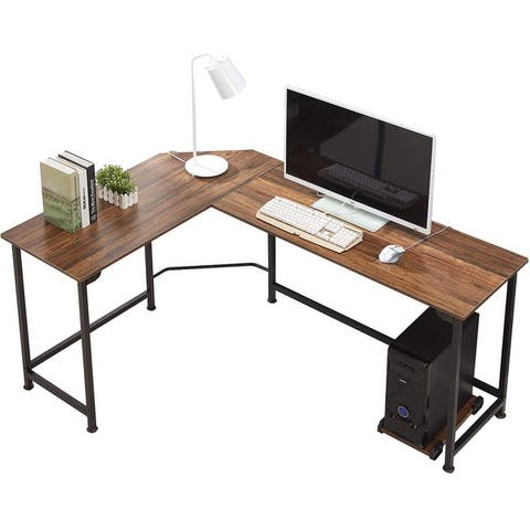 VECELO L-shaped Computer Desk Writing Corner Desk