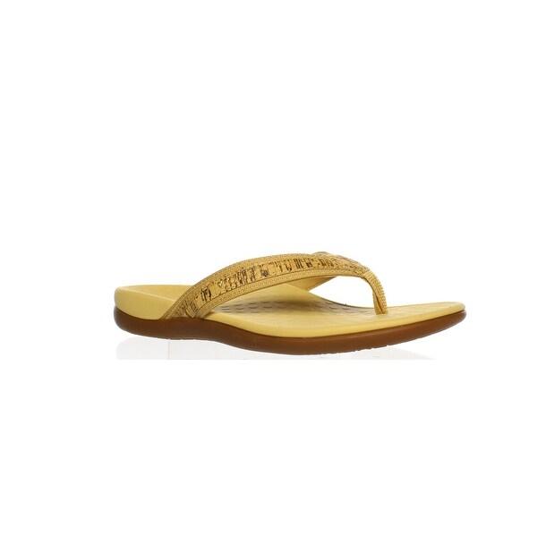 a8e130f93ff4 Shop Vionic Womens Tideii Gold Cork Flip Flops Size 7 - Free ...