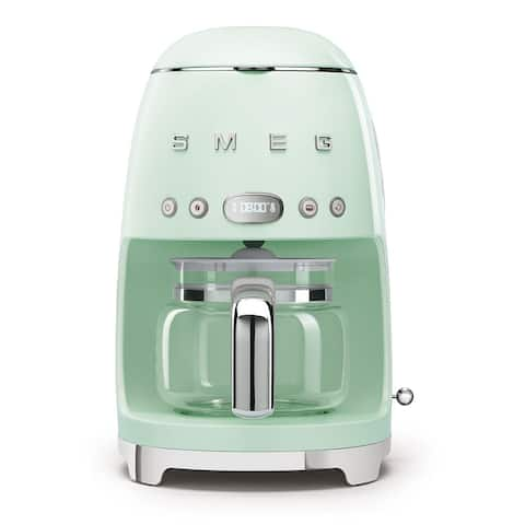 Smeg 50's Retro Style Aesthetic Drip Coffee Machine, Pastel Green