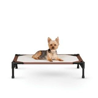 "K&H Pet Products Self-Warming Pet Cot Medium Brown 25"" x 32"" x 7"""