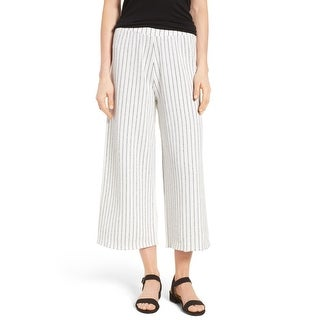 Nic + Zoe NEW Ivory Women's Size Small S Stripe Cropped Stretch Pants