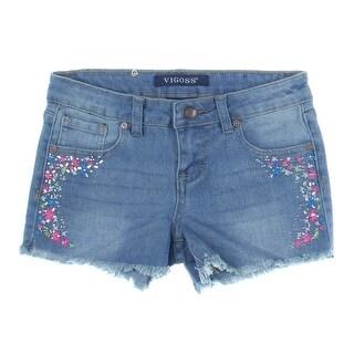 Vigoss Girls Denim Cutoff Shorts - 10