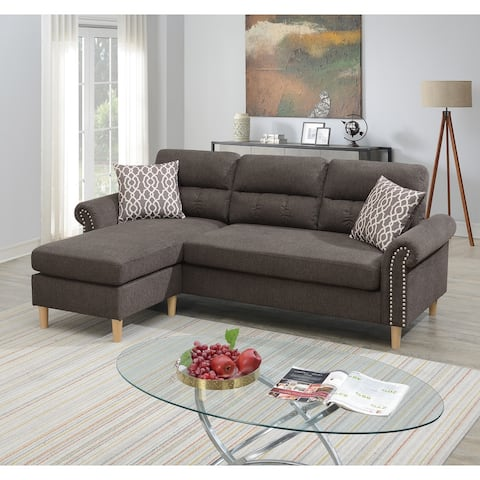 Poundex 2 Piece Multi Color Reversible Sectional