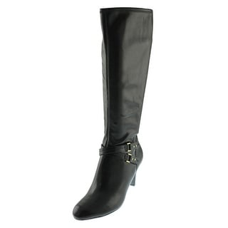 Naturalizer Womens Byron Knee-High Boots Faux Leather Belted