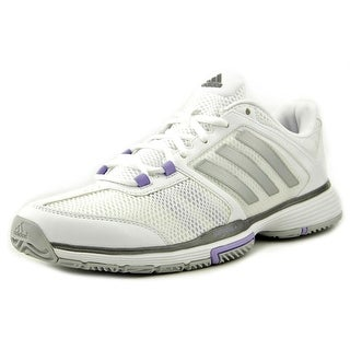 Adidas Barricade Team 4 Women Round Toe Synthetic White Tennis Shoe