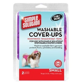 "Simple Solution Washable Diaper Cover-Ups, Small, ""Colors May Vary"", Pink/Purple or Blue/Black, 2 Pack"