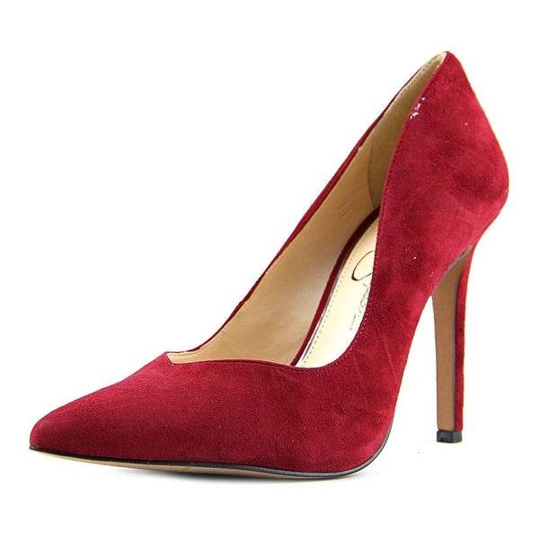 Jessica Simpson Cylvie Women Pointed Toe Suede Red Heels