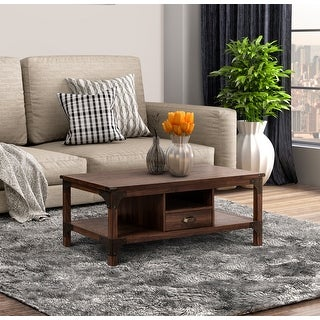 Link to Logan Walnut Coffee Table with 1-drawer Similar Items in Living Room Furniture