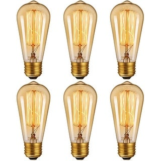 Link to 6 Pack Dimmable Industrial Edison ST64 Bulb, 2200K Amber Light Similar Items in Light Bulbs