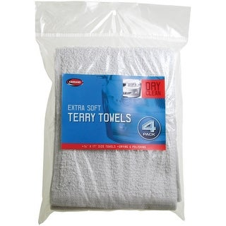 """Carrand 45054 Extra Soft Terry Towels, 14"""" x 17"""", 4/Pack"""