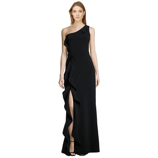 Parker Black Paxon Ruffle One Shoulder Evening Gown Dress - 2