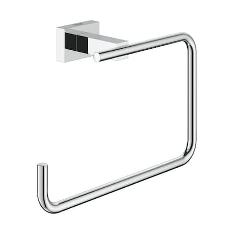 Grohe Essentials Cube Towel Ring Chrome (40510001)