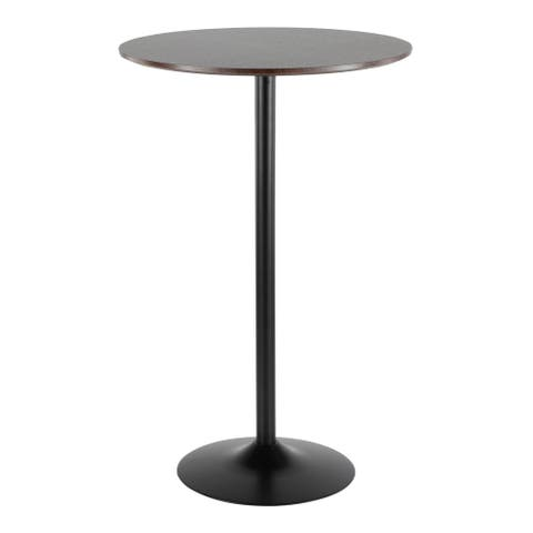 Pebble Adjustable Dining to Bar Table in Metal and Wood - N/A