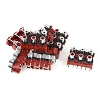 Unique Bargains 8 x Black Red 9 Pins 6 RCA Female Outlet AV Concentric Socket Connector Adapter