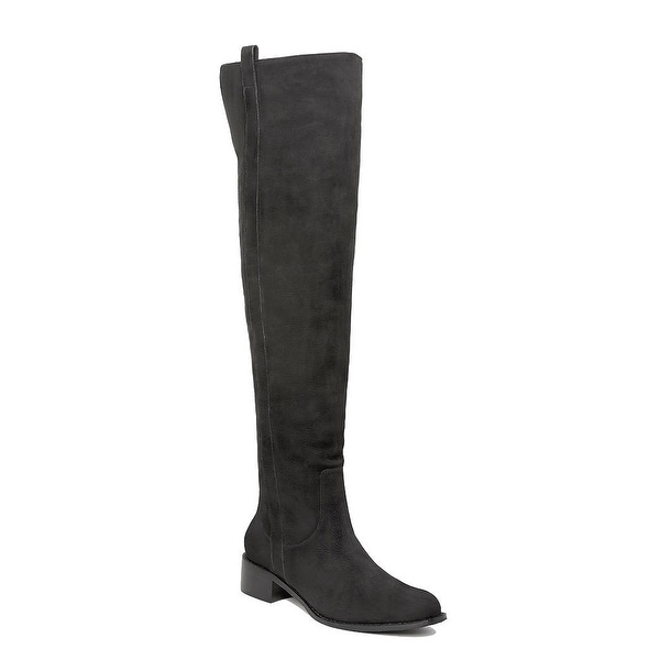 Delman NEW Black Women's Shoes Size 7M Sofie Suede Over Knee Boot