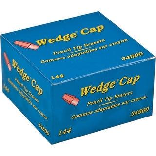Dixon Wedge Pencil Cap Erasers 144/Pkg-Pink