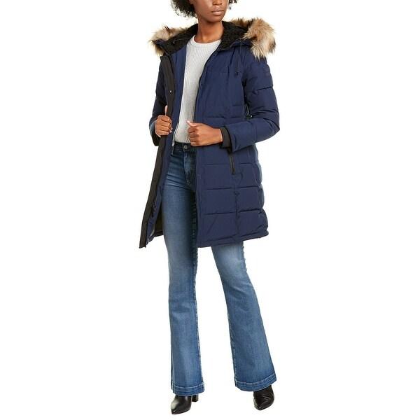Nine West Long Hooded Jacket. Opens flyout.