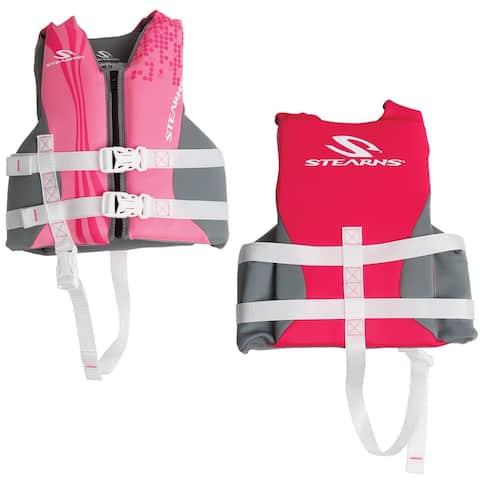 Stearns child hydroprene life jacket 30-50 lbs pink