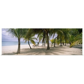 """""""Sunning tourists on 7-Mile Beach, Negril, Jamaica"""" Poster Print"""